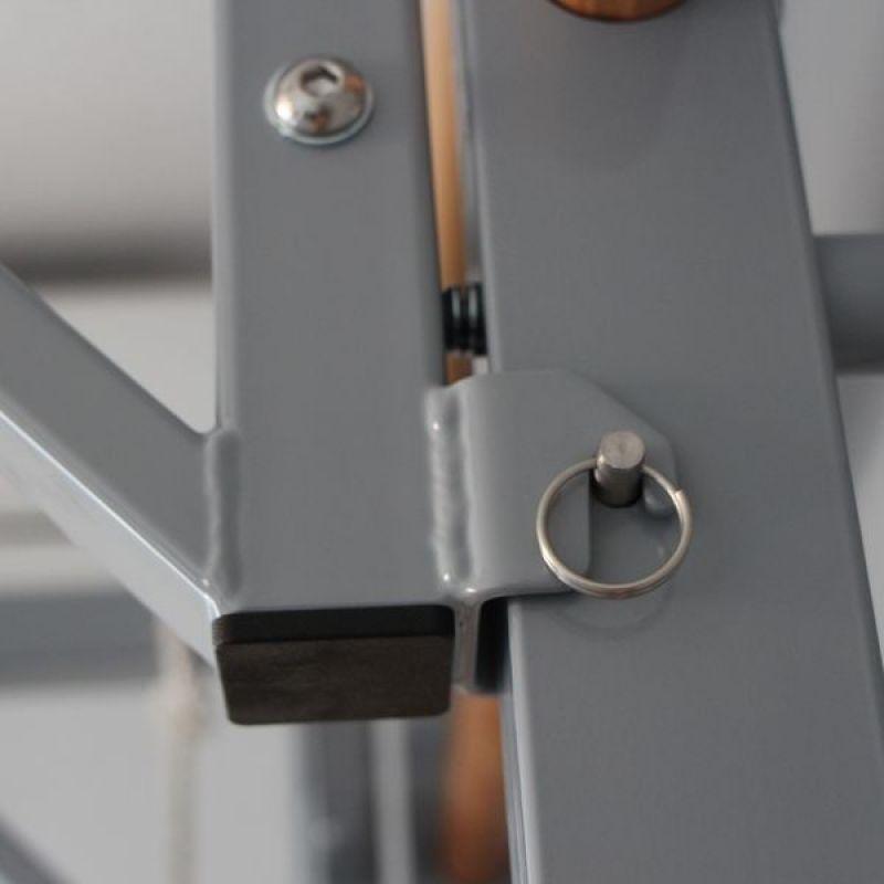 Фотография Шведская стенка KETT-UP SPARTA c турником/брусья, металл, серебро/бук 8