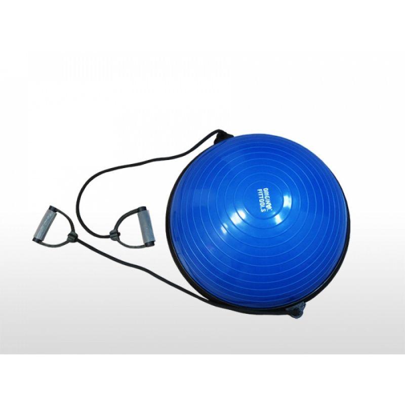 Фотография Полусфера гимнастическая надувная с эспандерами и насосом 0