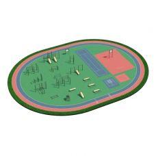 Миниатюра Спортивная площадка ВФСК 4 0  мини