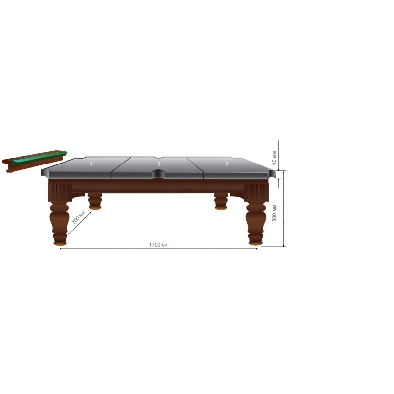 Фотография Бильярдный стол Домашний Люкс II 5