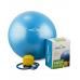 Миниатюра Мяч гимнастический GB-102 с насосом (55 см, синий, антивзрыв) 4  мини