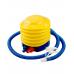 Миниатюра Мяч гимнастический GB-102 с насосом (55 см, синий, антивзрыв) 2  мини