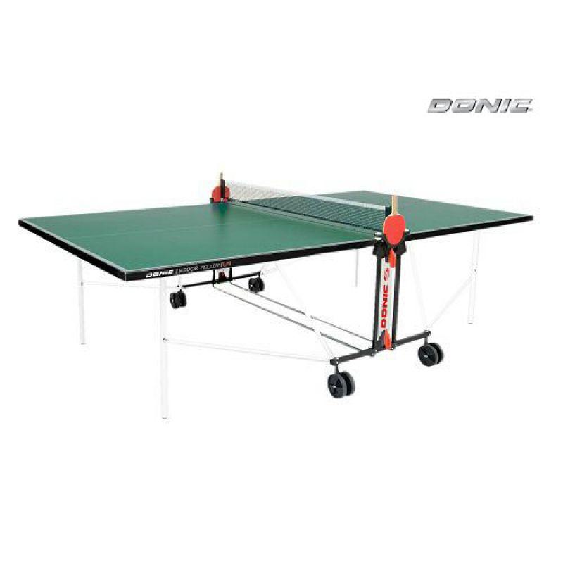 Фотография Теннисный стол Donic Outdoor Roller FUN зеленый 0