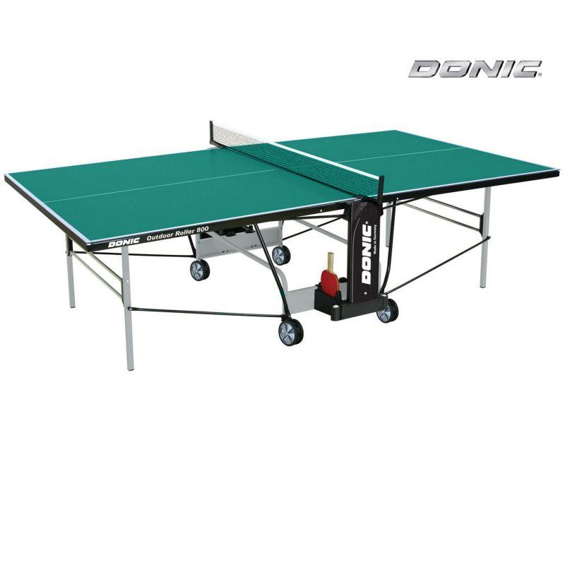 Фотография Всепогодный Теннисный стол Donic Outdoor Roller 800 зеленый 0