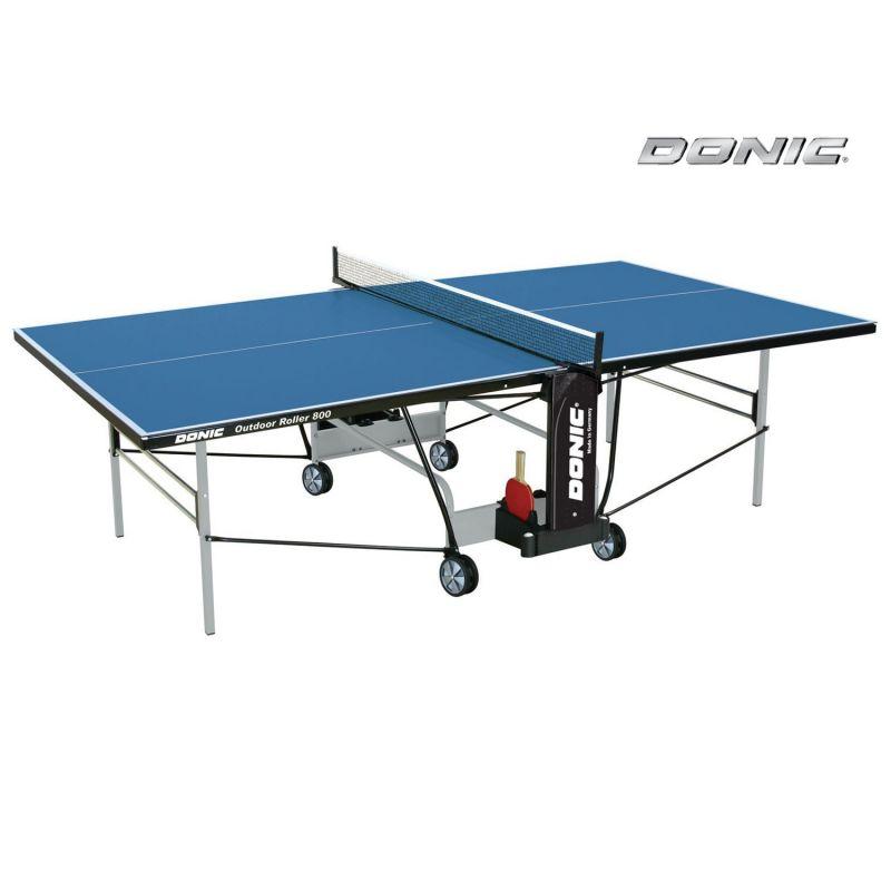 Фотография Всепогодный Теннисный стол Donic Outdoor Roller 800 синий 0