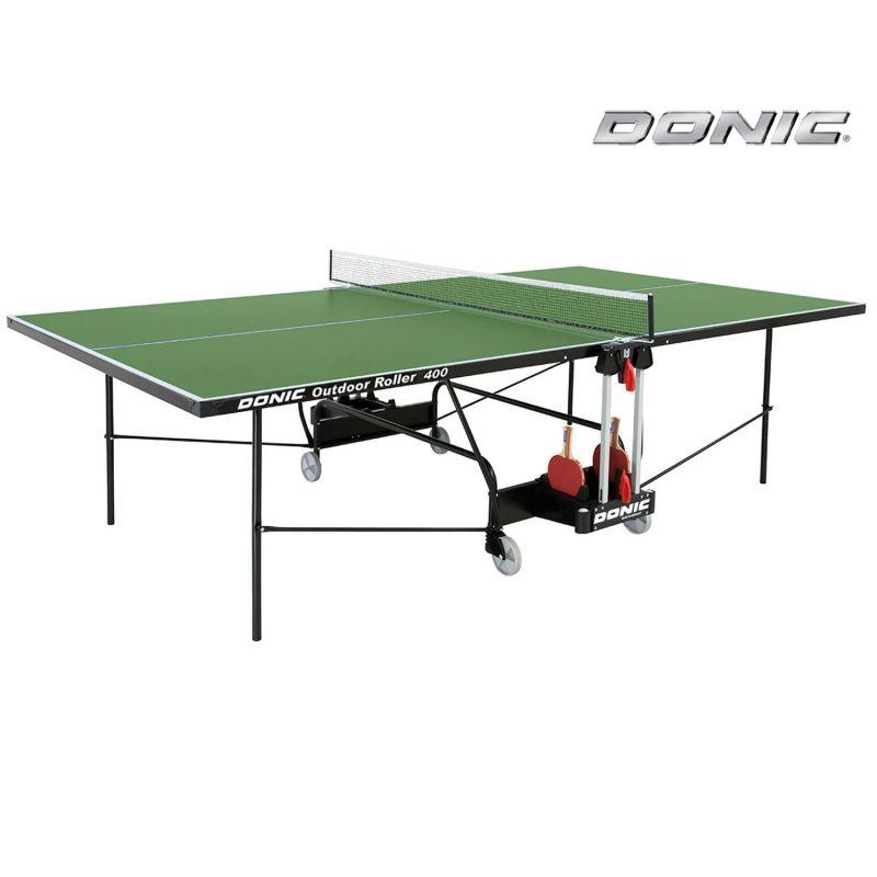 Фотография Всепогодный теннисный стол Donic Outdoor Roller 400 зеленый 0