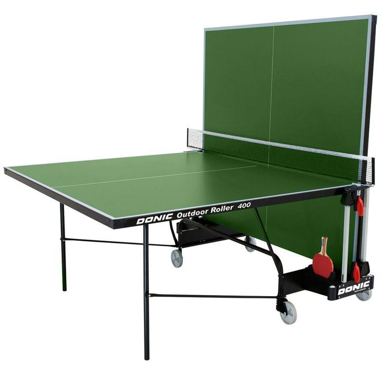 Фотография Всепогодный теннисный стол Donic Outdoor Roller 400 зеленый 1