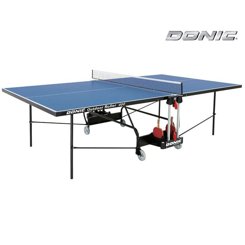 Фотография Всепогодный теннисный стол Donic Outdoor Roller 400 синий 0