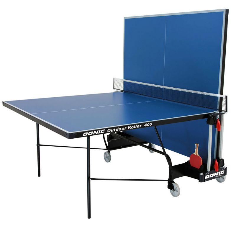 Фотография Всепогодный теннисный стол Donic Outdoor Roller 400 синий 1