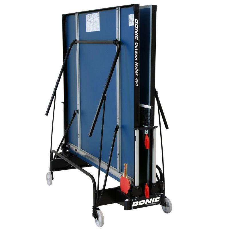 Фотография Всепогодный теннисный стол Donic Outdoor Roller 400 синий 2