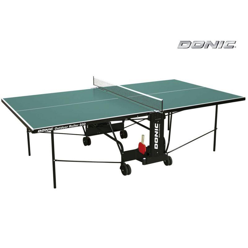 Фотография Всепогодный Теннисный стол Donic Outdoor Roller 600 зеленый 0