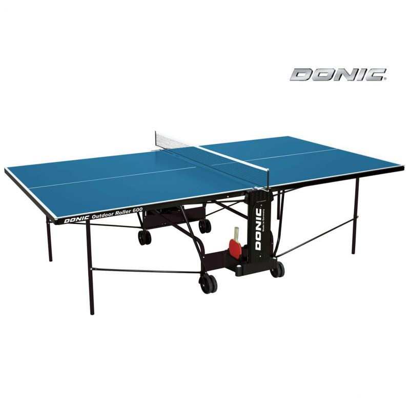 Фотография Всепогодный Теннисный стол Donic Outdoor Roller 600 синий 0