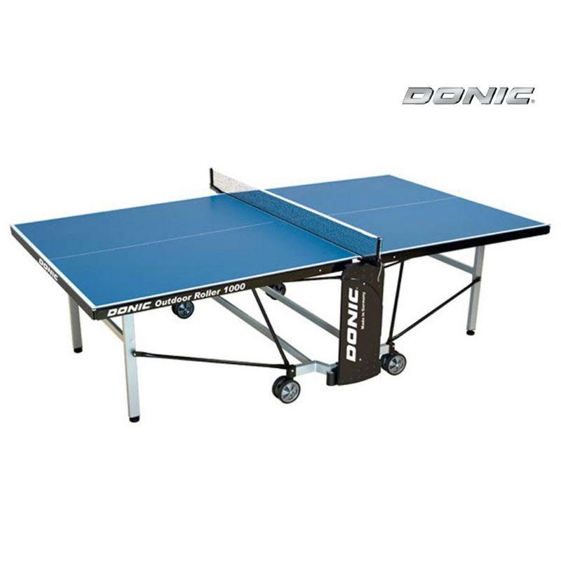 Фотография Всепогодный Теннисный стол Donic Outdoor Roller 1000 синий 0