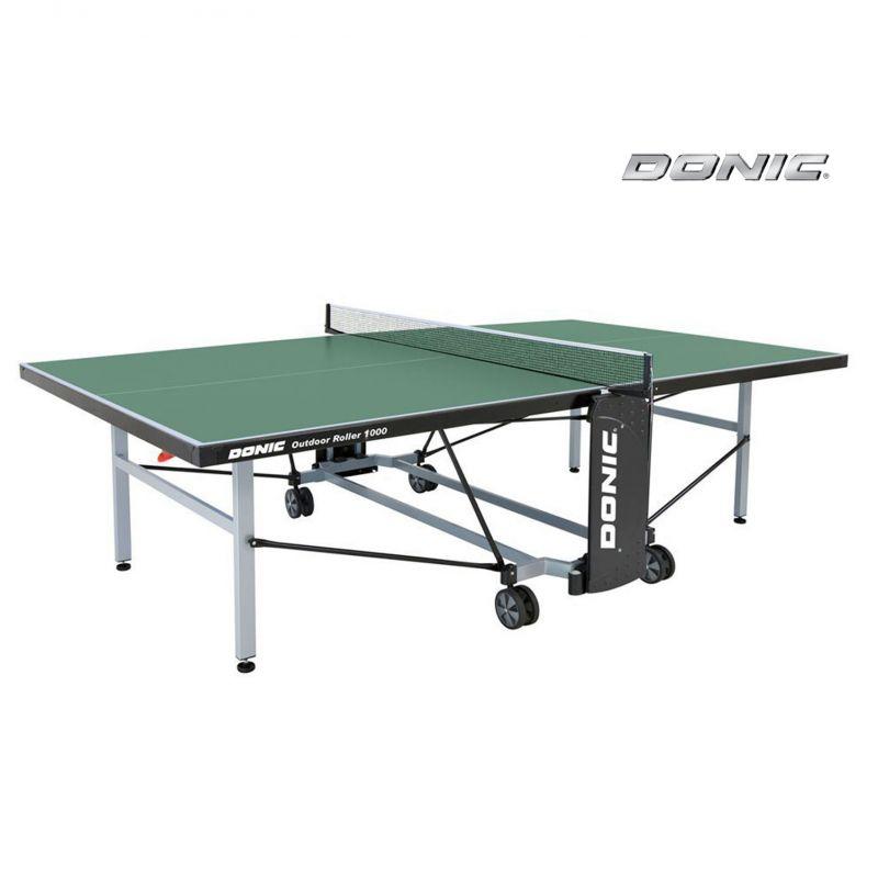Фотография Всепогодный Теннисный стол Donic Outdoor Roller 1000 зеленый 0