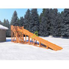 Миниатюра Зимняя деревянная горка Snow Fox, скат 10 м 0  мини