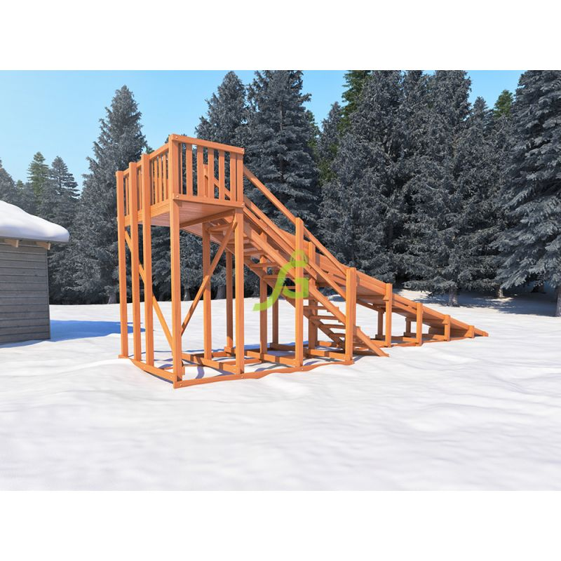 Фотография Зимняя деревянная горка Snow Fox, скат 10 м 4