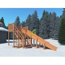 Миниатюра Детские деревянные зимние горки Snow Fox, скат 5,9 м 0  мини