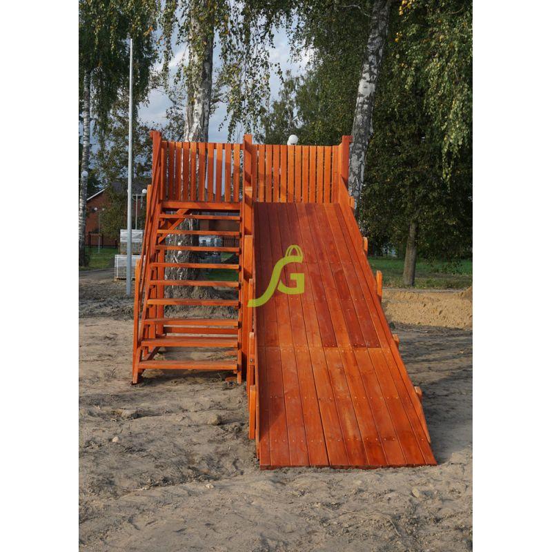 Фотография Детские деревянные зимние горки Snow Fox, скат 5,9 м 9