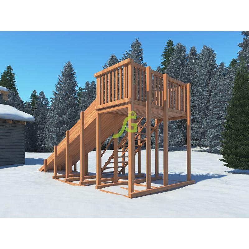 Фотография Детские деревянные зимние горки Snow Fox, скат 5,9 м 3