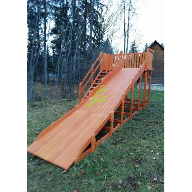 Фотография Детские деревянные зимние горки Snow Fox, скат 5,9 м 6