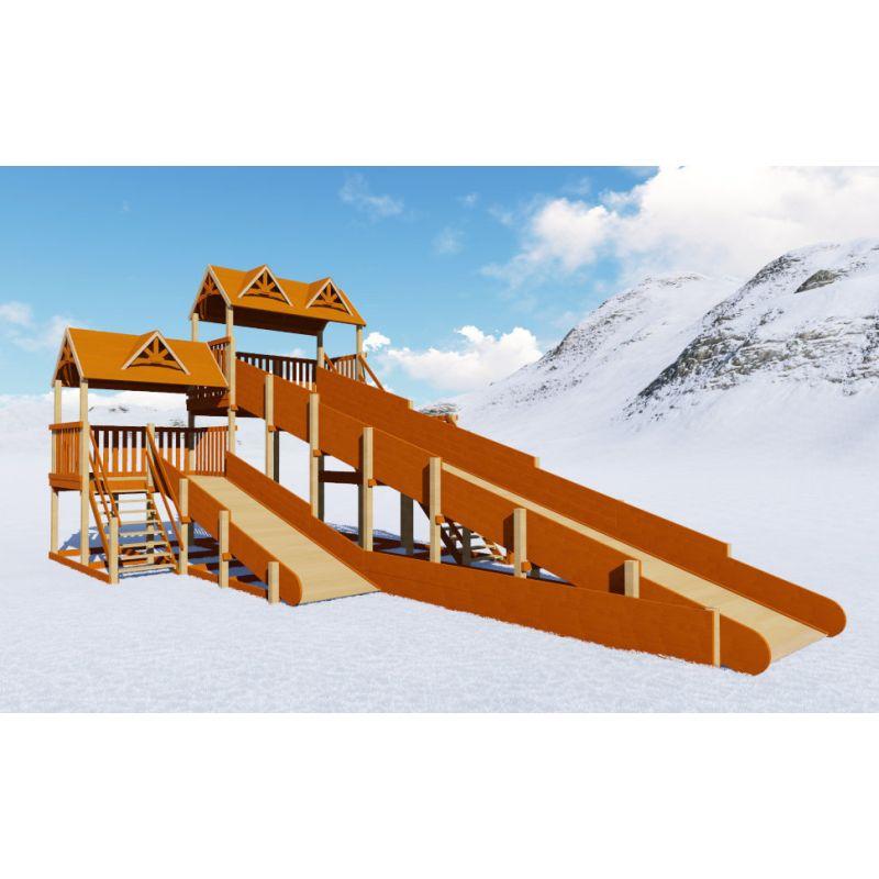 Фотография Зимняя деревянная горка Норд премиум 0