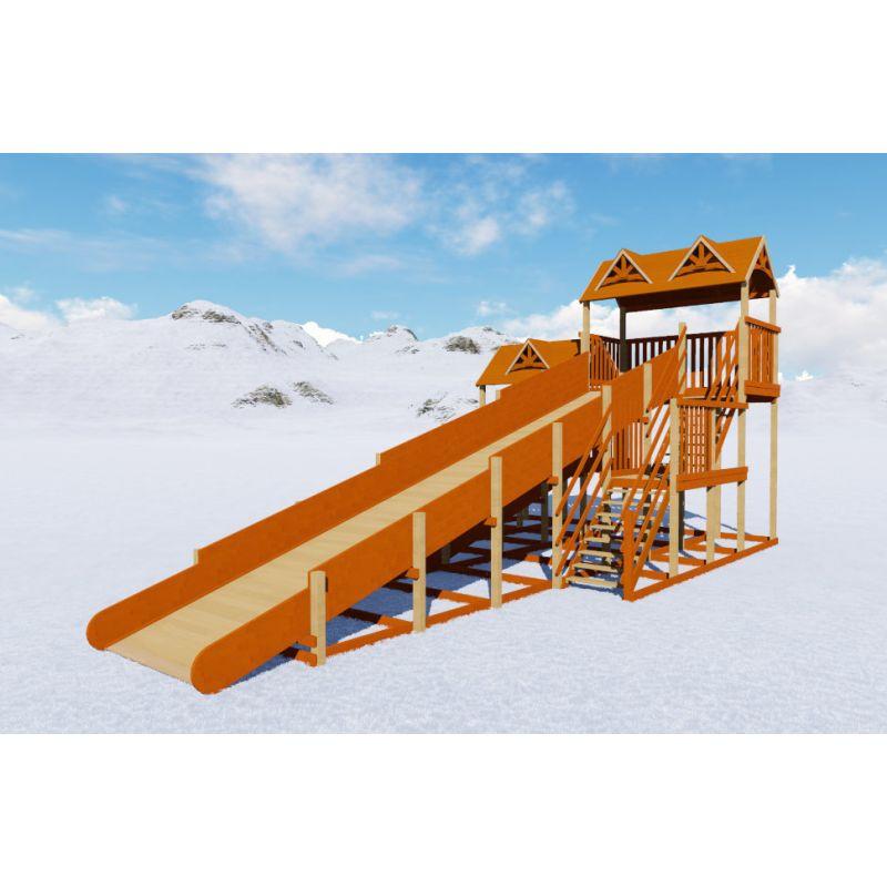 Фотография Зимняя деревянная горка Норд премиум 1