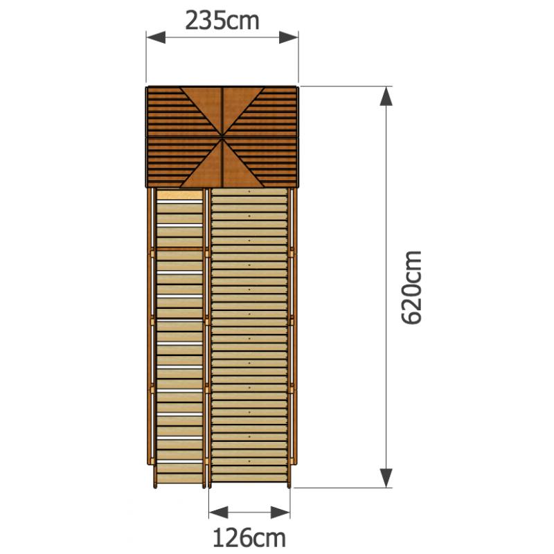 Фотография Зимняя деревянная горка Норд 2 2