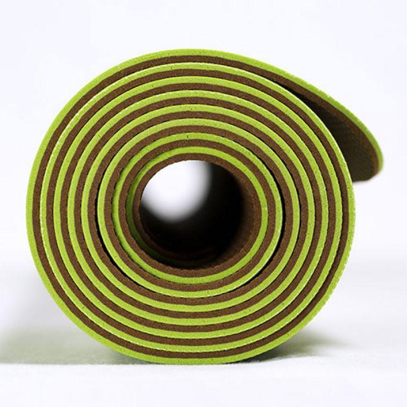 Фотография Коврик для йоги Airex Prime Yoga Calyana02, цвет: лайм-орех 2