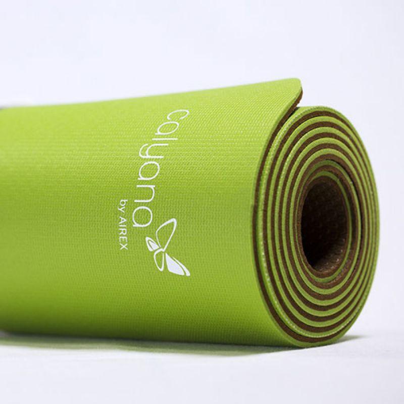 Фотография Коврик для йоги Airex Prime Yoga Calyana02, цвет: лайм-орех 1