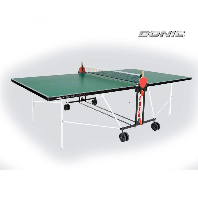 Фотография Теннисный Donic стол Indoor Roller FUN зеленый 0