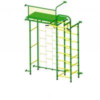 Детский спортивный комплекс Пионер 10ЛМ зелёно/жёлтый