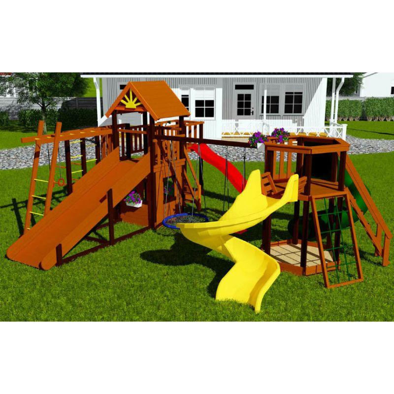 Фотография Деревянная детская площадка Марк 8 1