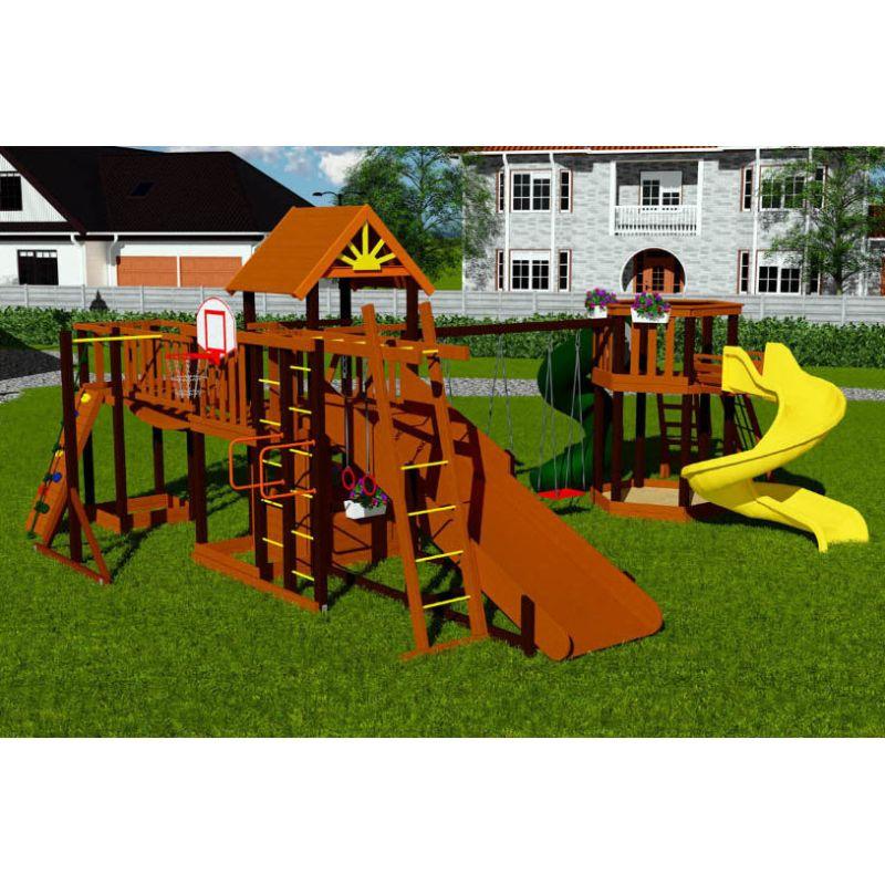 Фотография Деревянная детская площадка Марк 8 0