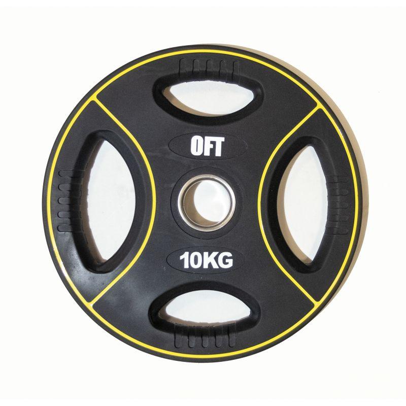 Фотография Диск для штанги олимпийский полиуретановый 10 кг 0