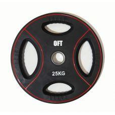 Миниатюра Диск для штанги олимпийский полиуретановый 25 кг 0  мини