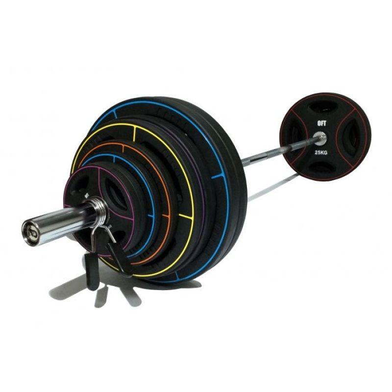 Фотография Диск для штанги олимпийский полиуретановый 20 кг 1