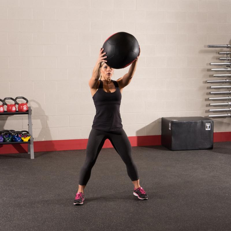 Фотография Тренировочный мяч мягкий WALL BALL 6,4 кг (14lb) 4