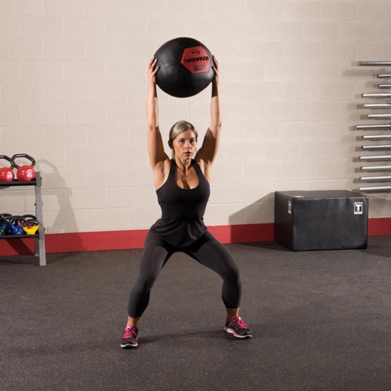 Фотография Тренировочный мяч мягкий WALL BALL 6,4 кг (14lb) 2