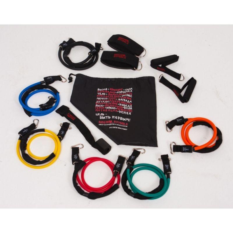 Фотография Набор эспандеров трубчатых (6 шт.) и аксессуаров в сумке 13