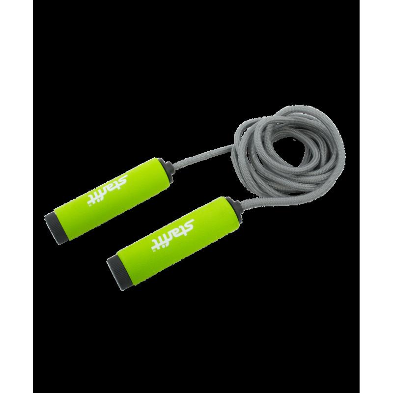 Фотография Скакалка RP-105 со вспененной ручкой, зеленая/черная 0