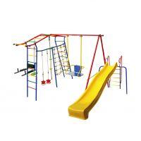 Спортивный комплекс Игромания-5 Фитнесс дачный с горкой КМС-425